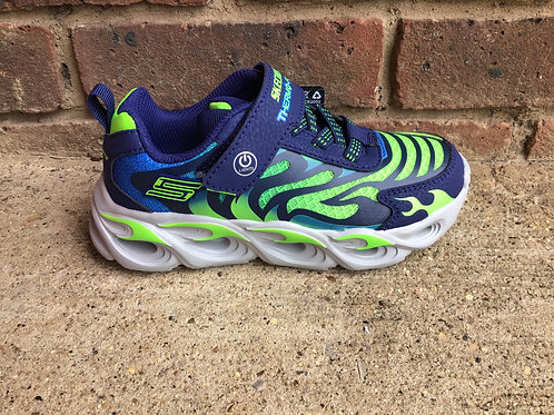 Skechers S Lights Thermo Flash Navy/Lime