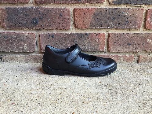 Startrite Pump Black Leather Girls  School Shoes