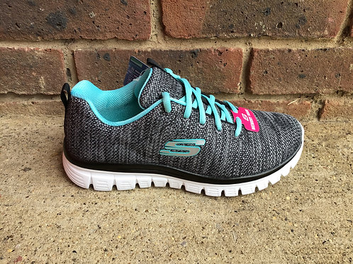 Skechers Graceful Twisted Fortune Black/Turquoise