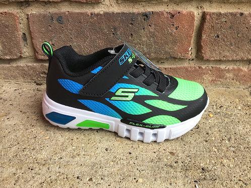Skechers Flex Glow Dezlo Black/Blue/Lime