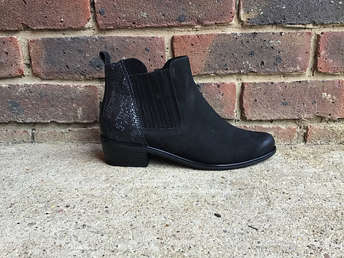 Caprice Black Comb Ladies Boots