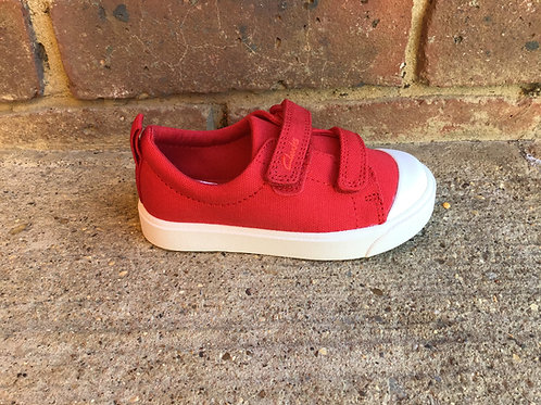 Clarks City Bright Red F Fit