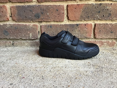 Clarks Scooter Speed Kid Black Leather