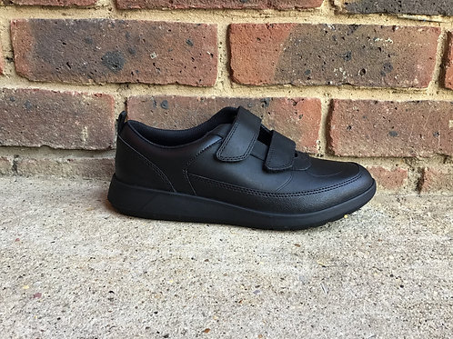 Clarks Scape Flare Youth Black Leather