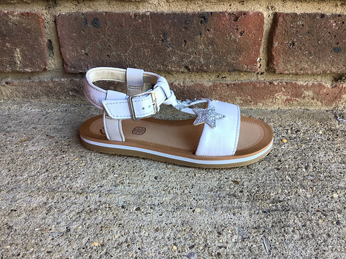 Clarks Finch Summer White Leather F Fit
