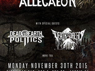 Act Of Defiance / Allegaeon / Dead Earth Politics @Dirty Dog - 11/30