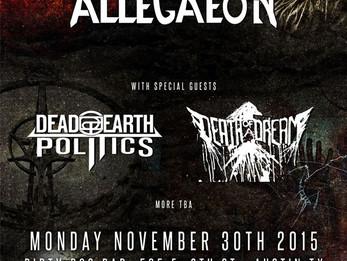 Act Of Defiance / Allegaeon / Dead Earth Politics @Dirty Dog - 11/30