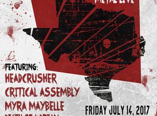 Pure Texas Metal Live @ Grand Stafford Theater - Bryan, TX - 7/14