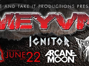 Meyvn / Ignitor / Death Of A Dream / Arcane Moon @ CATIL - Austin, TX - 6/22