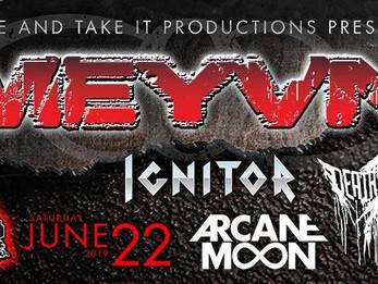 Meyvn / Ignitor / Death Of A Dream / Arcane Moon @ CATIL - Austin, TX - 6/22