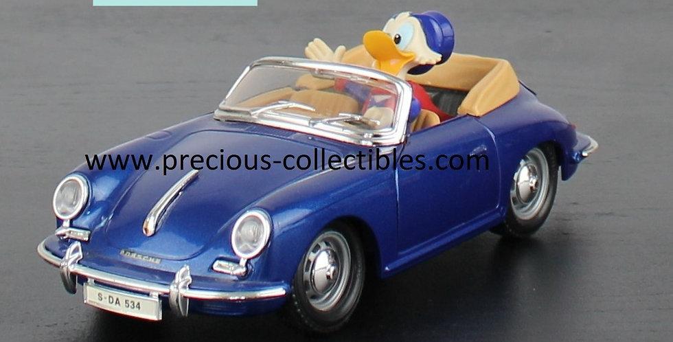Scrooge McDuck;Ebenezer;Uncle;Bburago;Walt Disney;Porsche 356 cabriolet; Cod 2302;For Sale;Shop;Collectible;Product;Rare;Gift