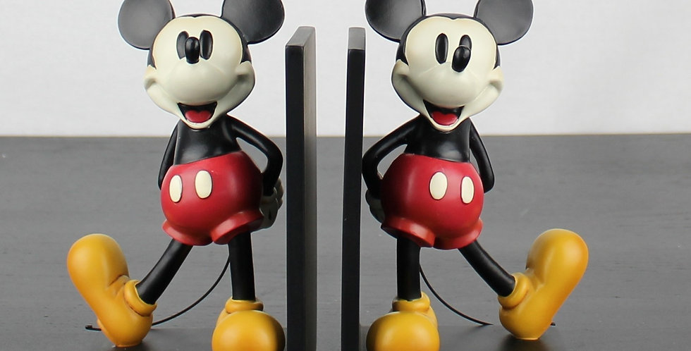 Mickey Mouse sculptured bookends by walt disney statue figurine collectible extremely rare find vintage unique webshop vintag