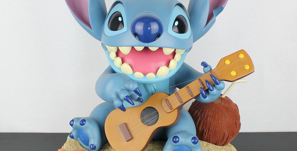 Stitch Cosmic Kahuna Figurine;Stich;Lilo;Walt Disney;Costa Alavesos;Life Size statue;Gitar;Extremely rare;collectible;product