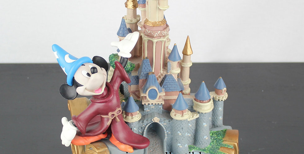 Mickey Mouse Disneyland Paris sorcerer's apprentice fantasia castle demons merveilles sculpture statue for sale webstore shop