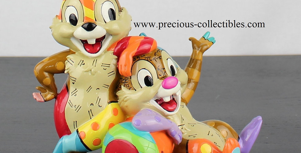 Chip and Dale by Britto for Walt Disney year 2014 2015 for sale webshop webstore in stock statue sculpture figurine webshop