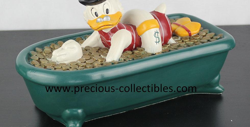 Scrooge;Uncle;Ebenezer;Bath;Bathing;Gold;Money;Rich;Filled;Demons Merveilles;Green;store;For Sale;Shop;Collectible;gift;swimm