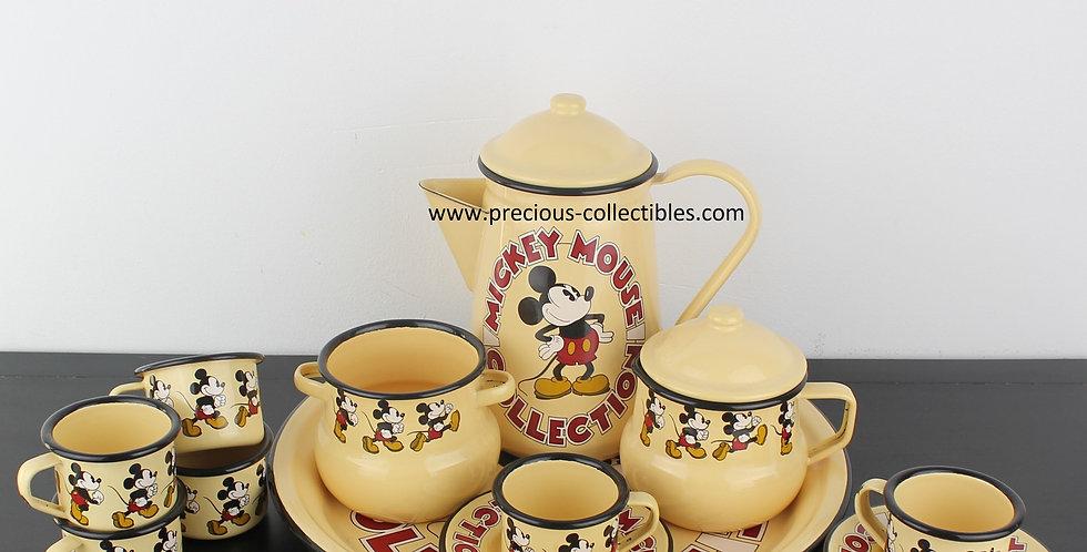 Walt Disney;Tableware;Enamel;Set;Walt disney;Demons Merveilles;Cup;Saucer;Milk;Jug;Sugar;Pot;Plate;Product;demons merveilles