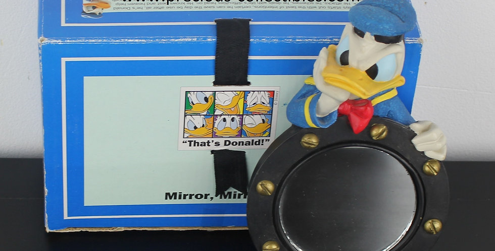 Donald Duck;Emotions;Sulking;angry;Mirror Mirror;Enesco;Walt Disney;Collectible;Collectable;Gift;Store;For Sale;Product;