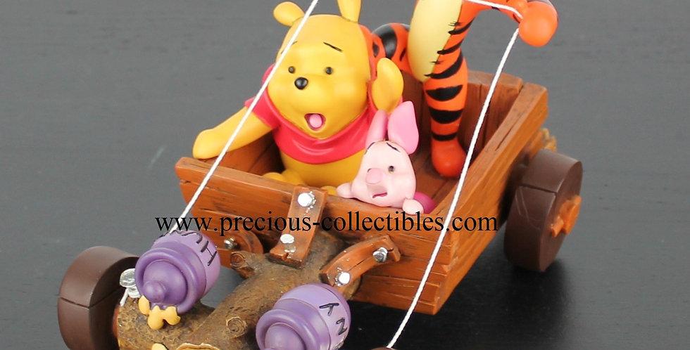 Winnie the Pooh, Tigger, Piglet racing Walt Disney Peter Mook Fingendi Rutten Sculpture Figurine Vintage Extremely rare sale