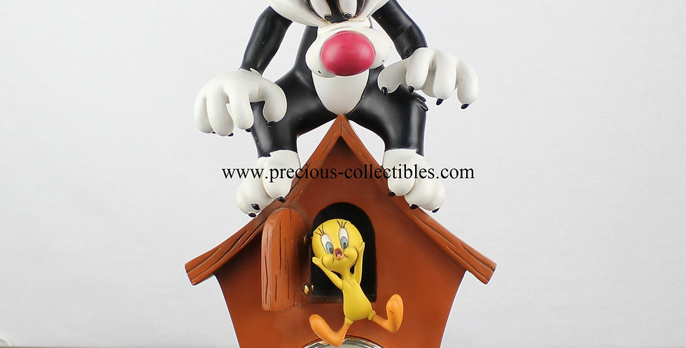 Sylvester;Tweety;Clock;Looney Tunes;Warner Bros;Warner Brothers;Peter Mook;Fingendi;Rutte;Rutten;Webshop;Webstore;Sculpture