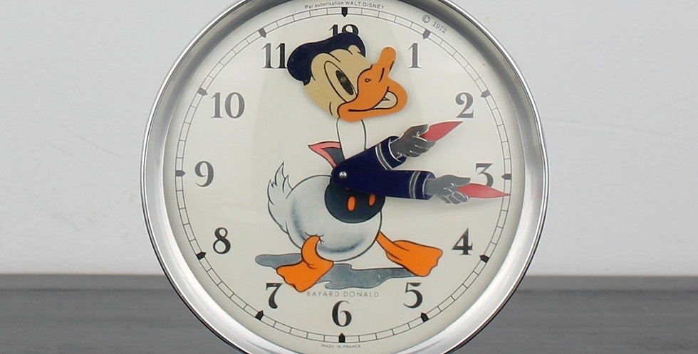 Donald Duck;Bayard;Alarm;Clock;Vintage;60's;70's;Walt Disney;Product;Collectible;for sale;Shop;store;unique;rare;cartoon;