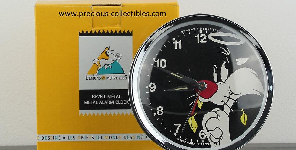 Sylvester;Tweety;Bird;Cat;Canary;Alarm Clock;Metal;Shop;Store;For Sale;Demons Merveilles;Looney Tunes;Warner Bros;Collectible