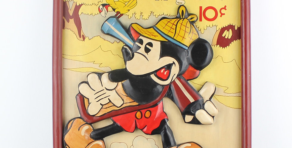 Mickey Mouse;Magazine;Antique;April 1936;Vol 1 No 7;Platinum Age Comic;Hal Home inc publishers;Mickey hunting;Platinum age co