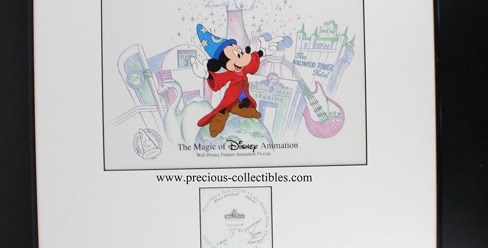 Mickey Mouse; David Rippberger;Animation studios;Filmcell;Sericell;Millenium;MGM studios;Signed;Autograph;Animation gallery;