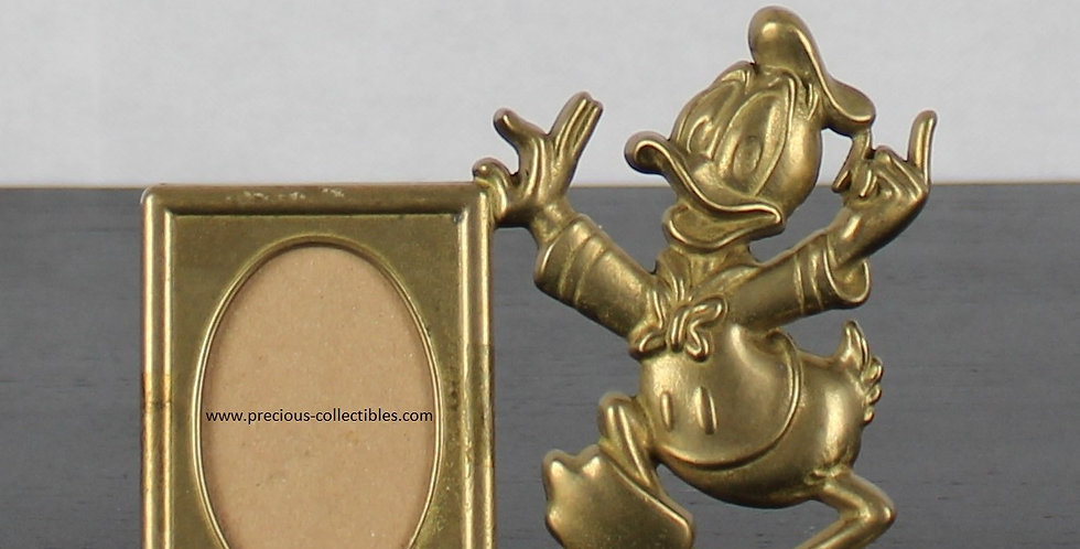 Donald duck;GATCO;Walt disney;Brass;Picture frame;metal;collectible;store;for sale;shop;gift;holidays;collectable;comic;