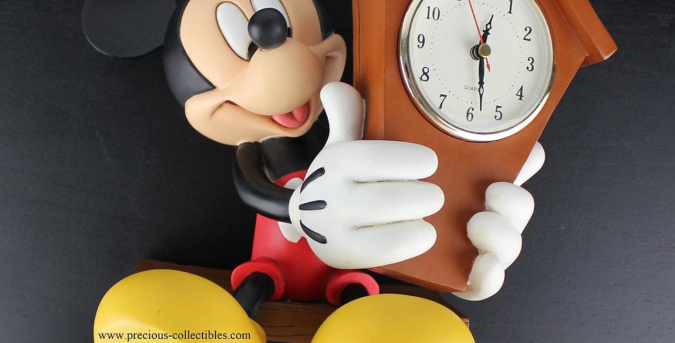 Mickey Mouse;Walt Disney;Clock;Rutten;Fingendi;Statue;Sculpture;Figurine;Rare;Extremely;Clock;Wall;Walt Disney;Shop;Store;For