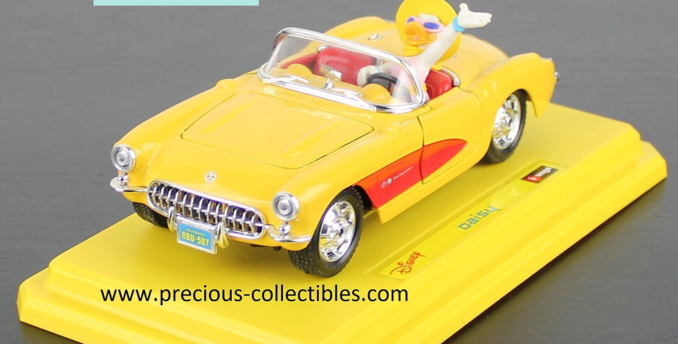 Daisy Duck;Bburago;Burago;Cod 2306;Chevrolet Corvette;Walt Disney;Product;For Sale;Shop;Collectible;Car;Cabrio;Gift;Present;
