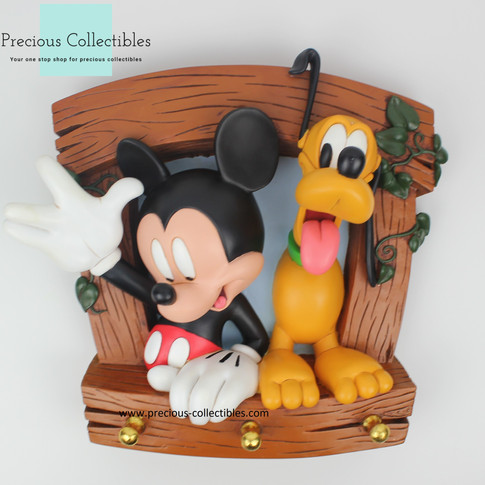 Mickey Mouse and Pluto coat rack