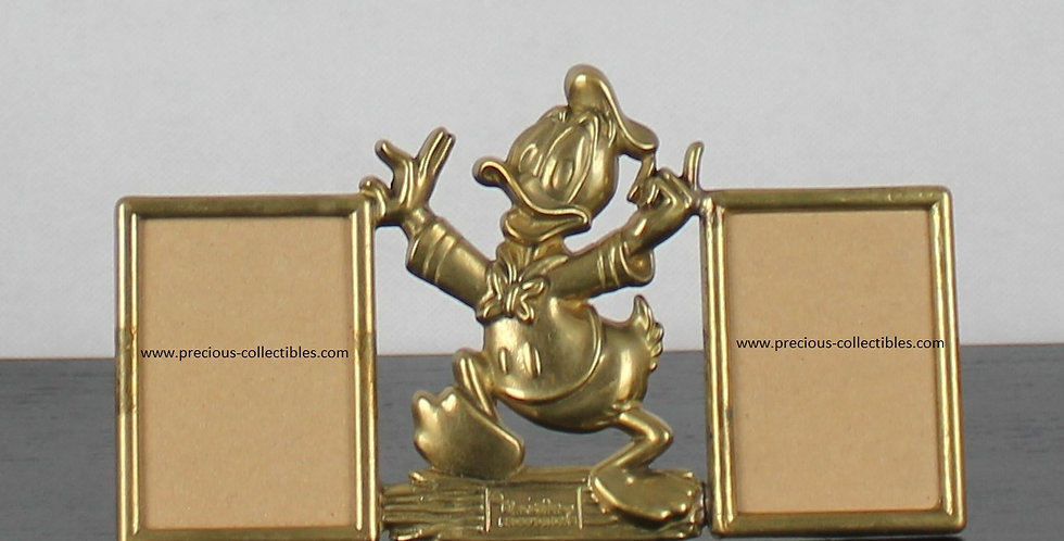Donald Duck;Picture Frame;Double;Gatco;Walt disney;Collectible;Brass;Metal;Steel;Frame;Store;For sale;Product;Shop;Gift;