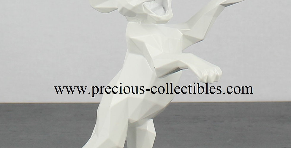 White Simba by Richard Orlinski Sculpture Modern Art Walt Disney year 2020 Lion King Collectible New in box