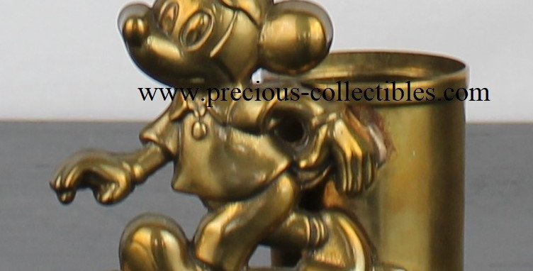 Vintage Mickey Mouse brass pen tray GATCO walt Disney collectible desk item metal rare product webshop for sale webstore