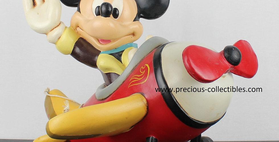 Mickey Mouse;Walt Disney;Polyester;Statue;Sculpture;Vintage;Rare;Collectible;Plane;Pilot;Shop;Store;For Sale;Disneyland Paris