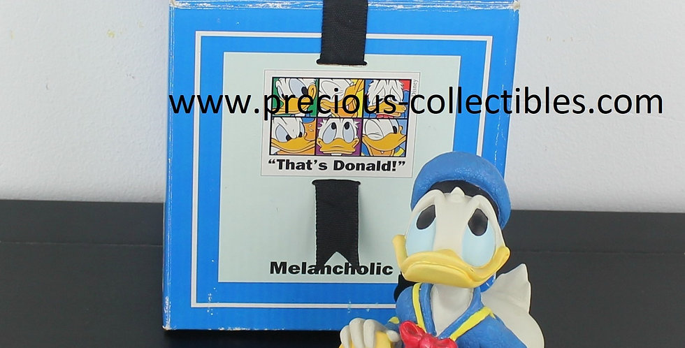 Donald Duck;Emotions;Melancholic;Staring;Sitting;Statue;figurine;Collectible;Collectable;Walt disney;Enesco;For sale;product