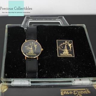 Disneyland Paris opening watch with pin