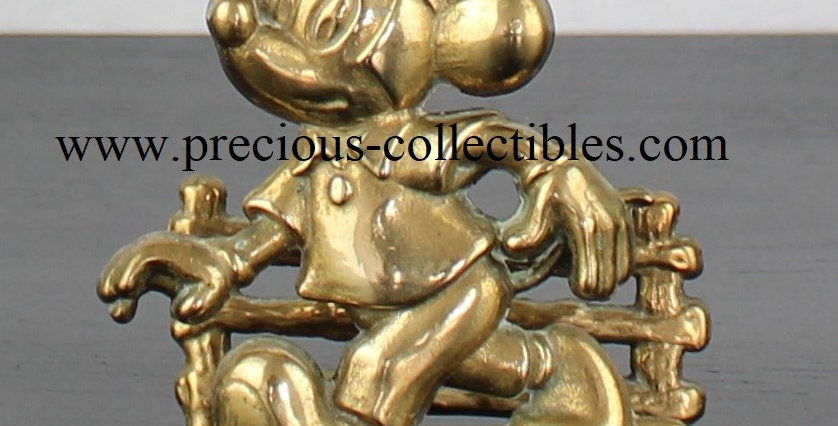 Mickey Mouse Brass Letter holder Gatco Walt Disney Precious Collectibles For sale vintage extremely rare webshop webstore