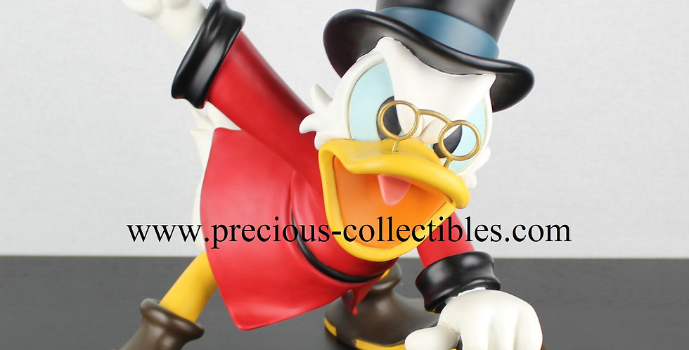 Scrooge McDuck waving his money angry polyresin big figurine sculpture statue peter mook rutten extremely rare for sale gift