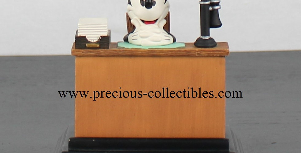 Mickey Mouse business card holder Figi Graphics Walt Disney Office Desk Extremely Rare Collectible Collectable Vintage Shop