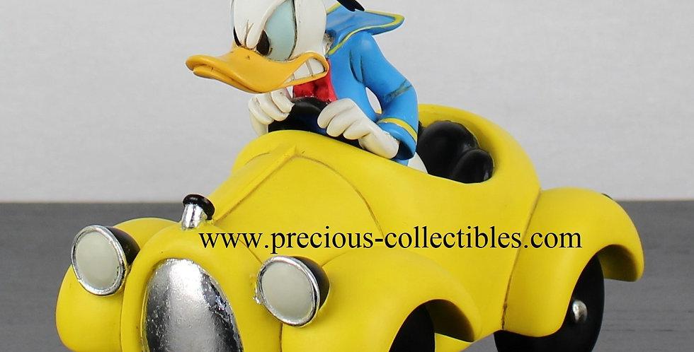 Donald Duck;Peter Mook;Fingendi;Rutten;313;Yellow;Racing;Car;Sculpture;Figurine;Collectible;Webshop;For Sale;Webstore;Gift
