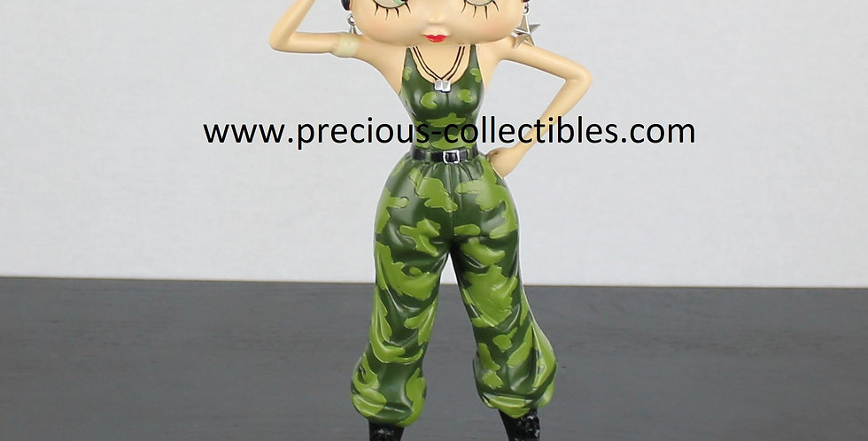 Betty Boop;Soldier;Statue;Figurine;King Features;Product;Store;Shop;For Sale;Rare;Webshop;Figurine;Collectible;Collectable;