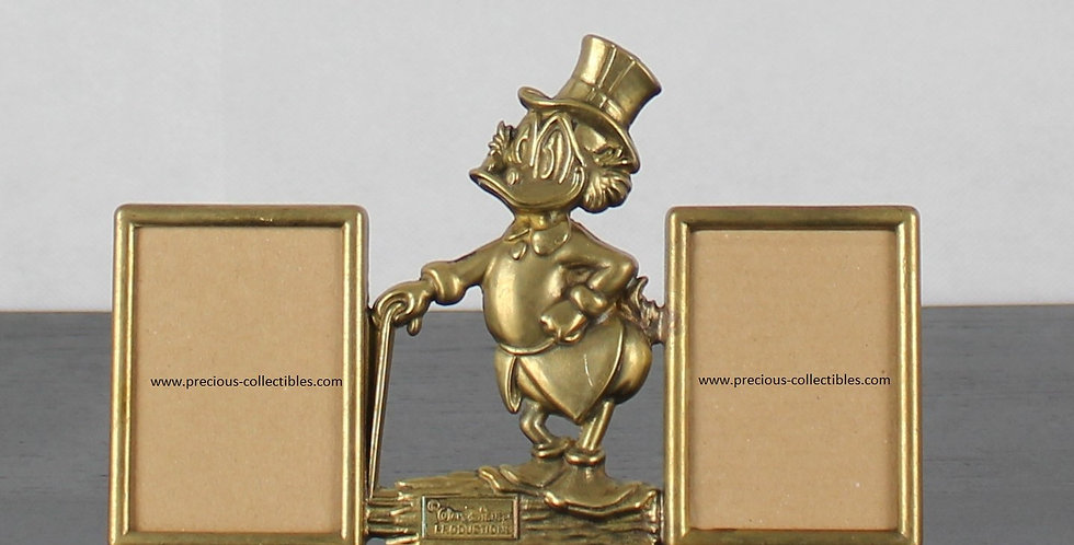 Uncle;Scrooge;Mcduck;Ebenezer;Walt Disney;Gatco;Italian;Brass;Metal;Steel;Picture frame;Shop;Product;For sale;Walt disney;
