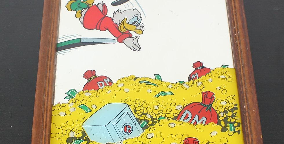 Uncle;Scrooge;Mcduck;Ebenezer;Duckstad;Walt Disney;Productions;Mirror;Vintage;Collectible;Rich;Product;Diving;Vault;Money;Gol