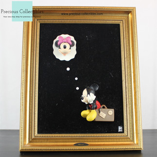Mickey and Minnie Mouse 3D art