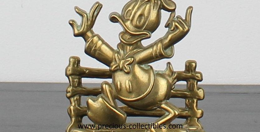Donald duck;Gatco;Walt Disney;Brass;Metal;Steel;Letter holder;Napkin holder;Desk;office;item;product;store;vintage;for sale