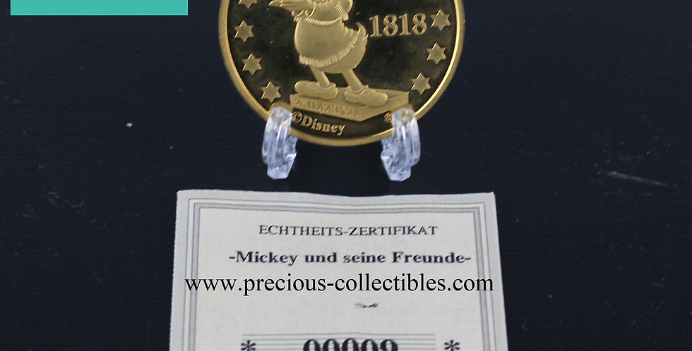 Dagoberts Gluckstaler 2001 Walt Disney gold coin for sale Taler Lucky dime Uncle Scrooge Dagoberts Collectibles