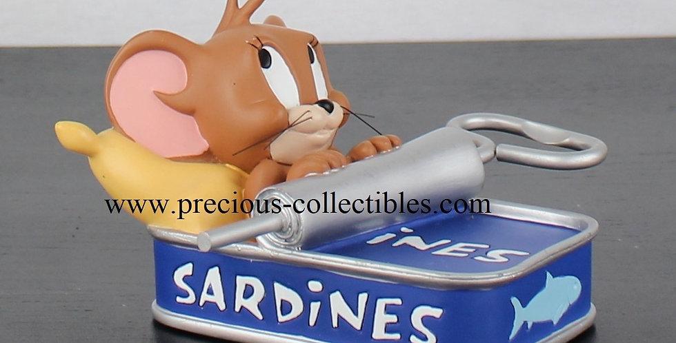 Jerry in a sardine can sculpture demons merveilles warner bros looney tunes statue webshop for sale vintage figurine webshop
