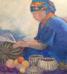 Making Sweetgrass Baskets